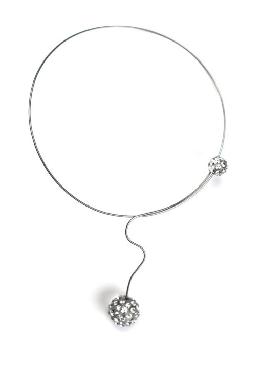 Cristaluna Usa Art In Acrylic Jewelry SATURNO TRANSPARENT ACRYLIC 20051300 Acrylic Necklaces with Swarovski Elements Swarovski © Elements Crystal