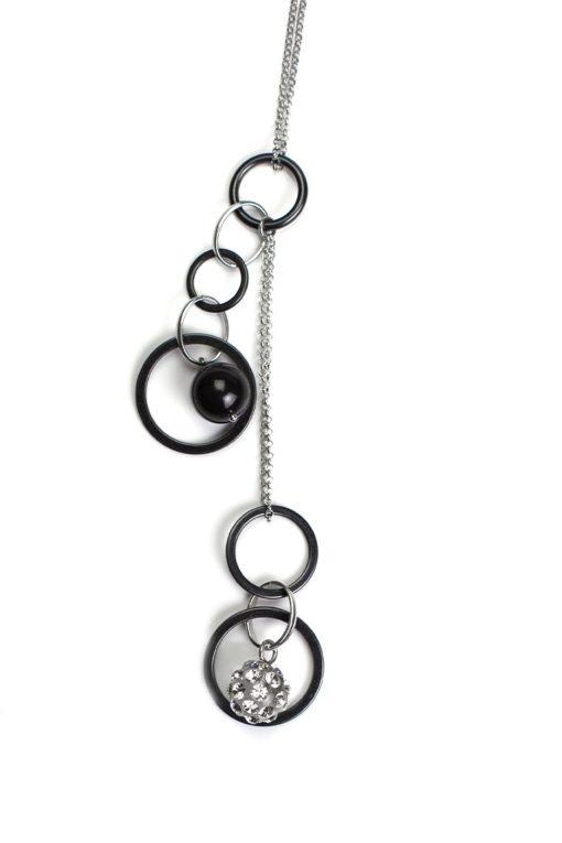 Cristaluna Usa Art In Acrylic Jewelry ALLEGRIA               S-art TRANSPARENT ACRYLIC 20051500P6 Acrylic Necklaces with Swarovski Elements Swarovski © Elements Crystal
