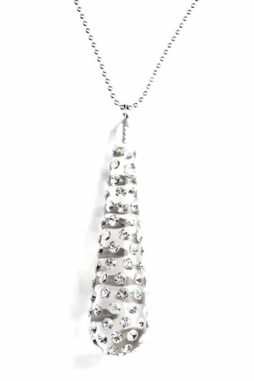Cristaluna Usa Art In Acrylic Jewelry LACRIMA TRANSPARENT ACRYLIC 20098300 Acrylic Necklaces with Swarovski Elements Swarovski © Elements Crystal