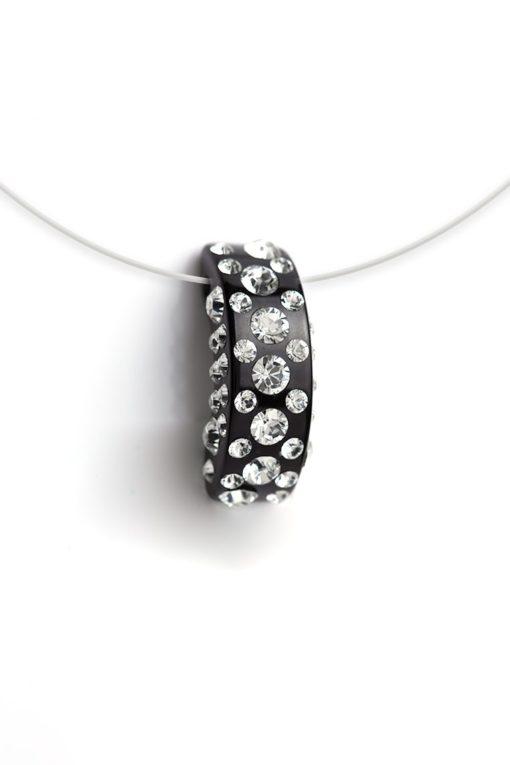 Cristaluna Usa Art In Acrylic Jewelry DIVA BLACK ACRYLIC 20135600 Acrylic Necklaces with Swarovski Elements Swarovski © Elements Crystal