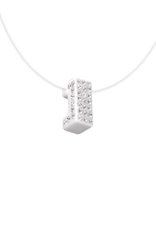 Cristaluna Usa Art In Acrylic Jewelry LUX WHITE ACRYLIC 20340800 Acrylic Necklaces with Swarovski Elements Swarovski © Elements Crystal