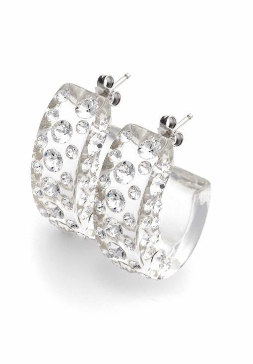 Cristaluna Usa Art In Acrylic Jewelry DIVA TRANSPARENT ACRYLIC 30035600 Acrylic Earrings with Swarovski Elements Swarovski © Elements Crystal
