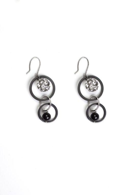 Cristaluna Usa Art In Acrylic Jewelry ALLEGRIA S-art TRANSPARENT ACRYLIC 30051500P6 Acrylic Earrings with Swarovski Elements Swarovski © Elements Crystal